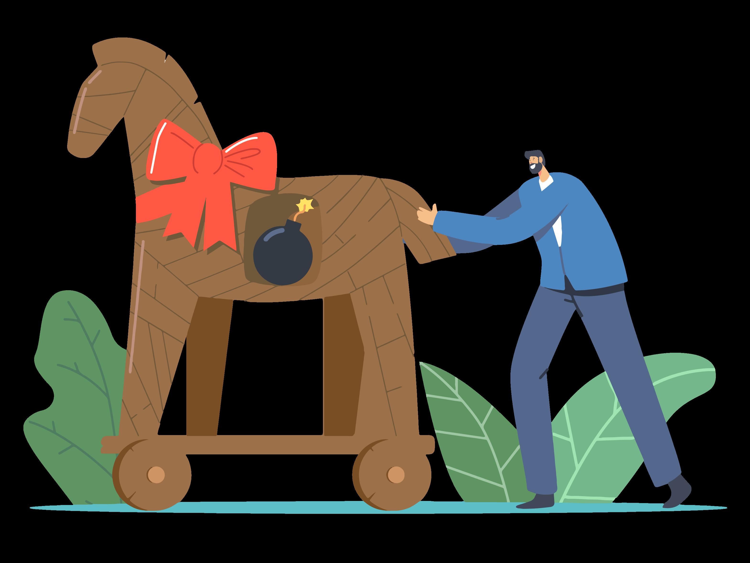 Pirater avec un cheval de Troie
